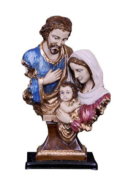 Busto da Sagrada Família (com pedestal) - 33 cm