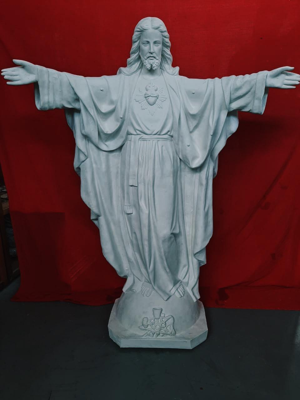 Cristo Redentor (pó de mármore) - 155 cm