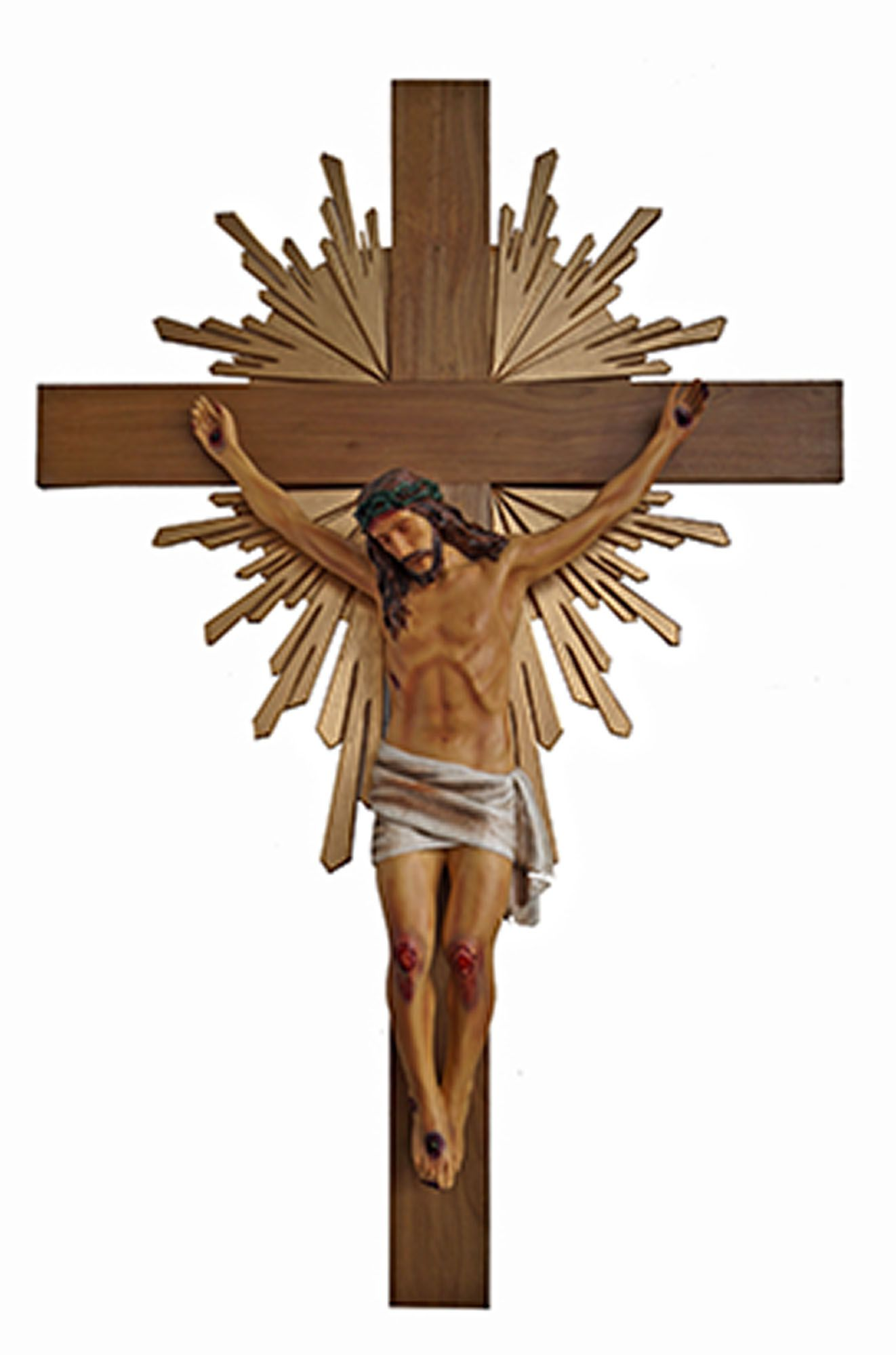Crucifixo 250 cm - corpo de 140 cm (com resplendor)