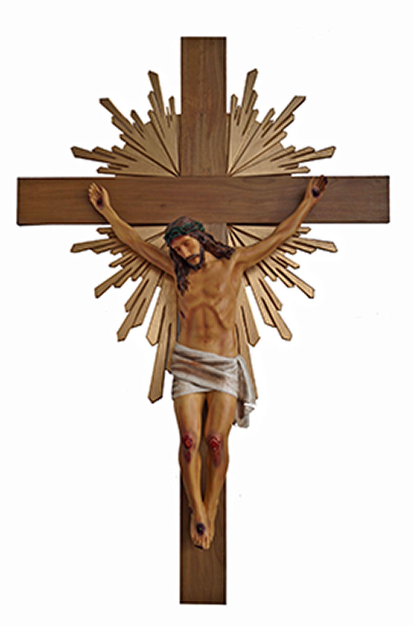 Crucifixo 320 cm - corpo 140 cm (com resplendor e base)