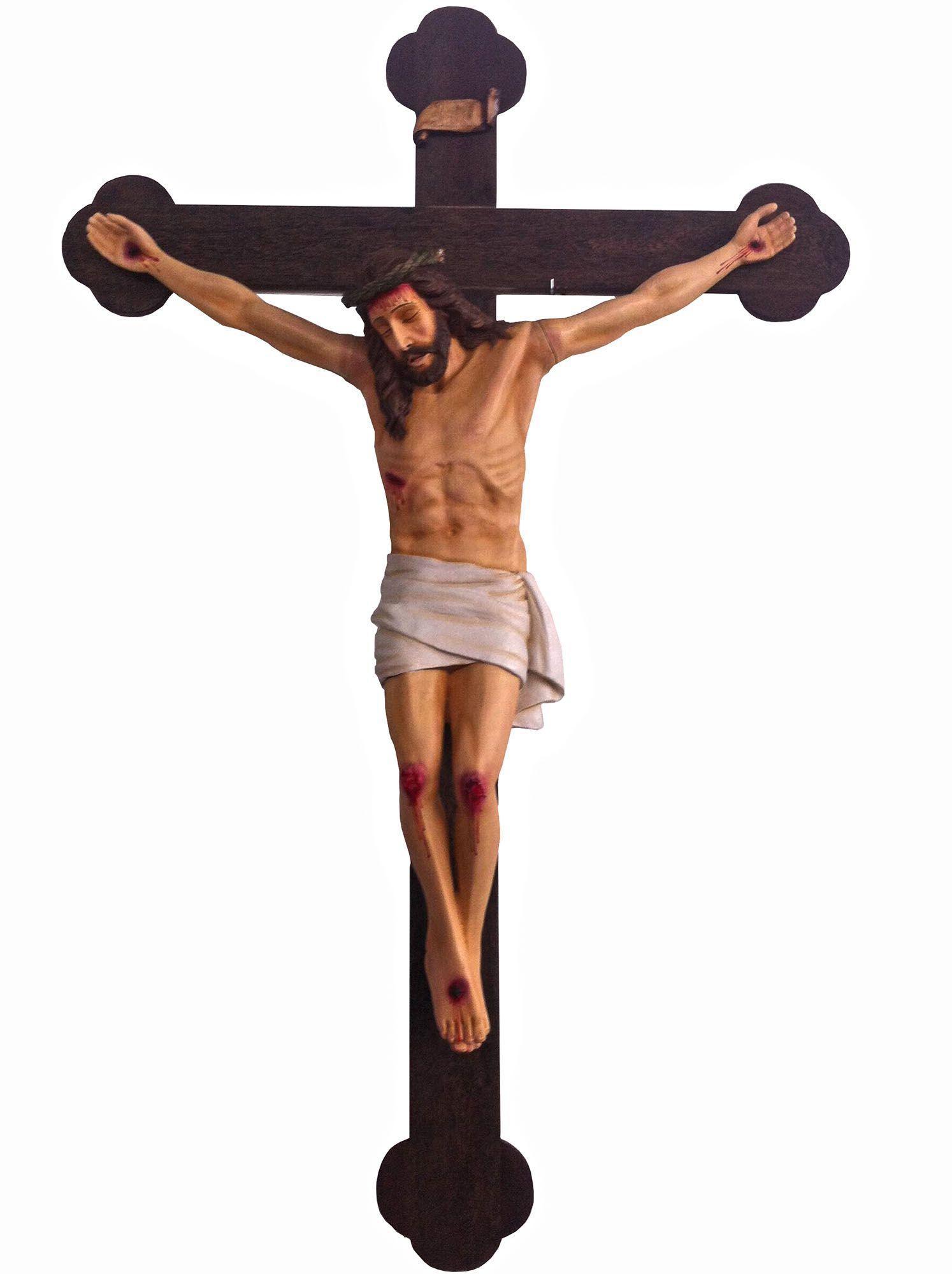 Crucifixo: 320 cm | Corpo: 180 cm (modelo antigo)