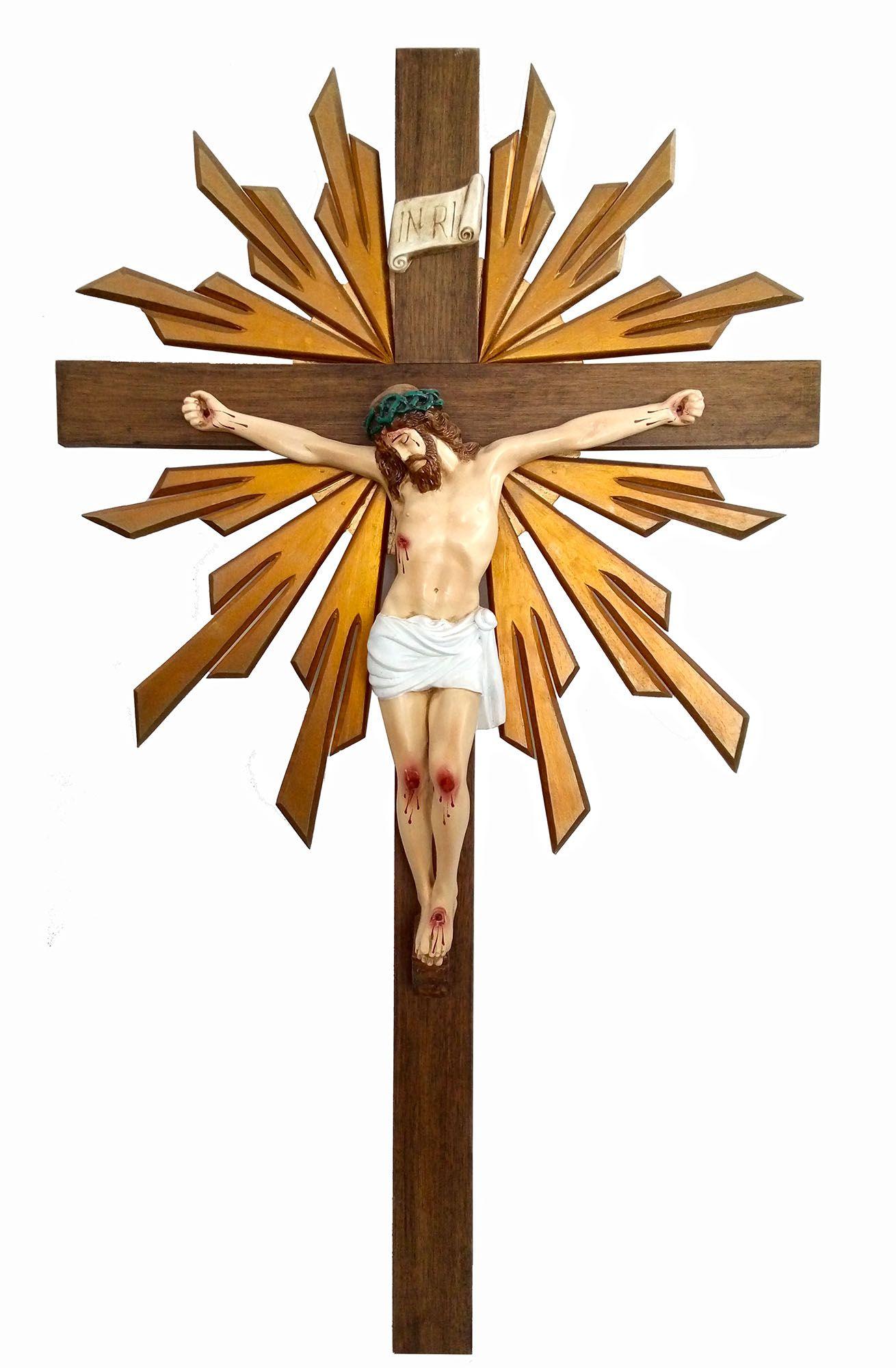 Crucifixo 110 cm - corpo 55cm (com resplendor)