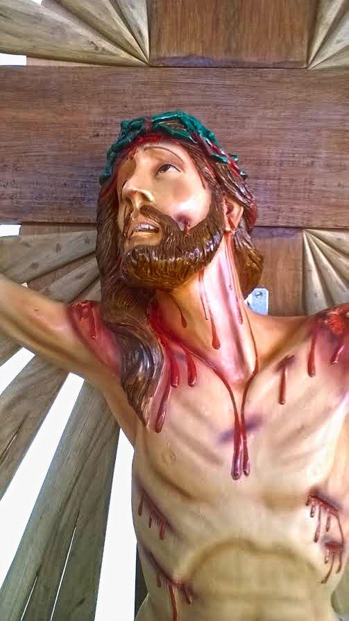 Crucifixo 320 cm - corpo 140 cm (Agonia com resplendor e base )