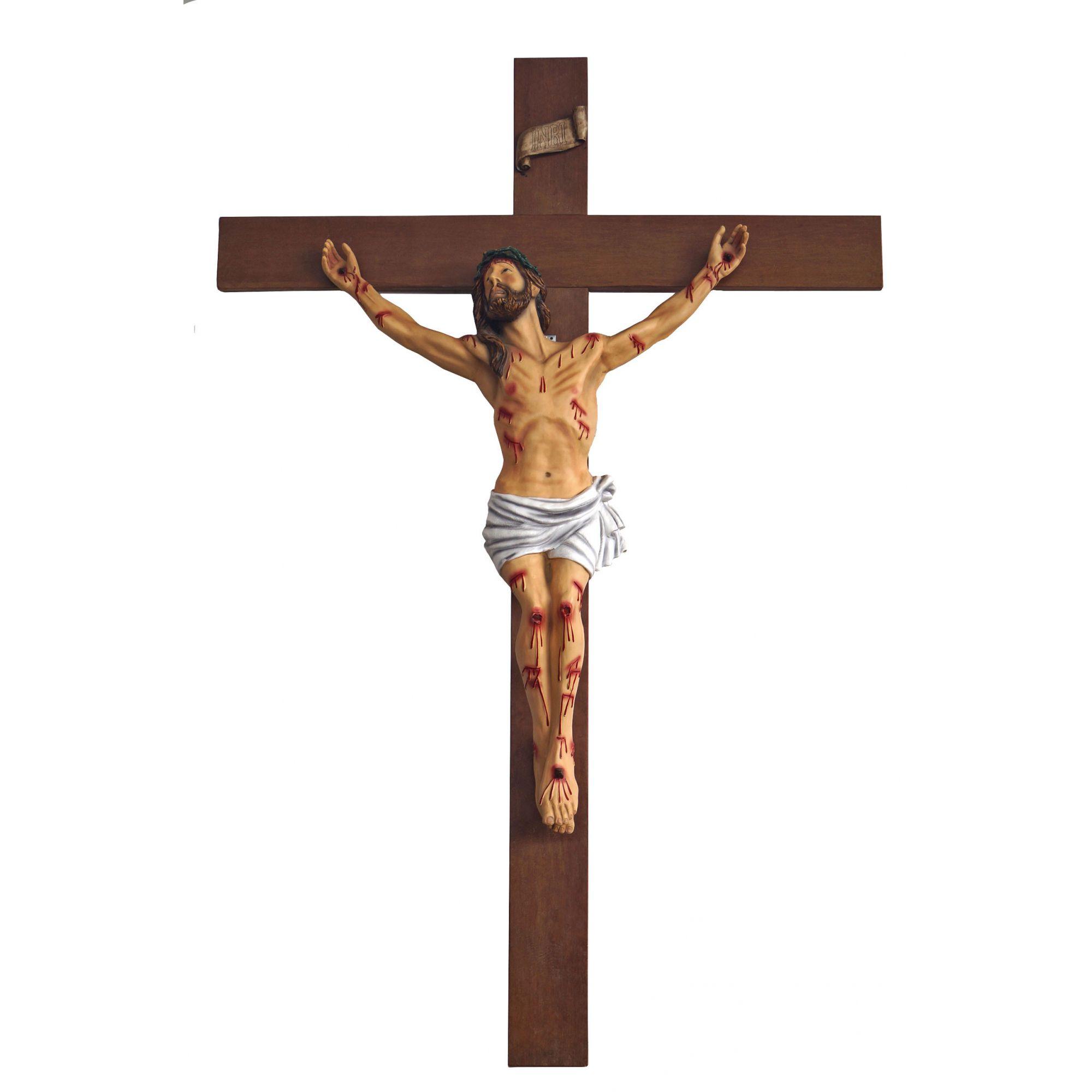 Crucifixo: 250 cm | Corpo: 140 cm (agonia)
