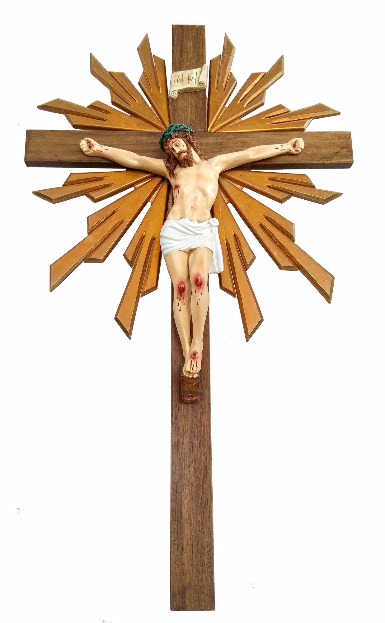 Crucifixo 140 cm -  corpo 55 cm (com resplendor)