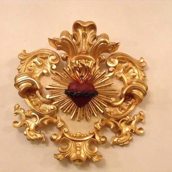 Medalhão Sagrado Coração - 60 cm x 60 cm