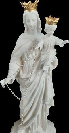 Nossa Senhora Auxiliadora - Pó de Mármore (coroas douradas)  - 110 cm