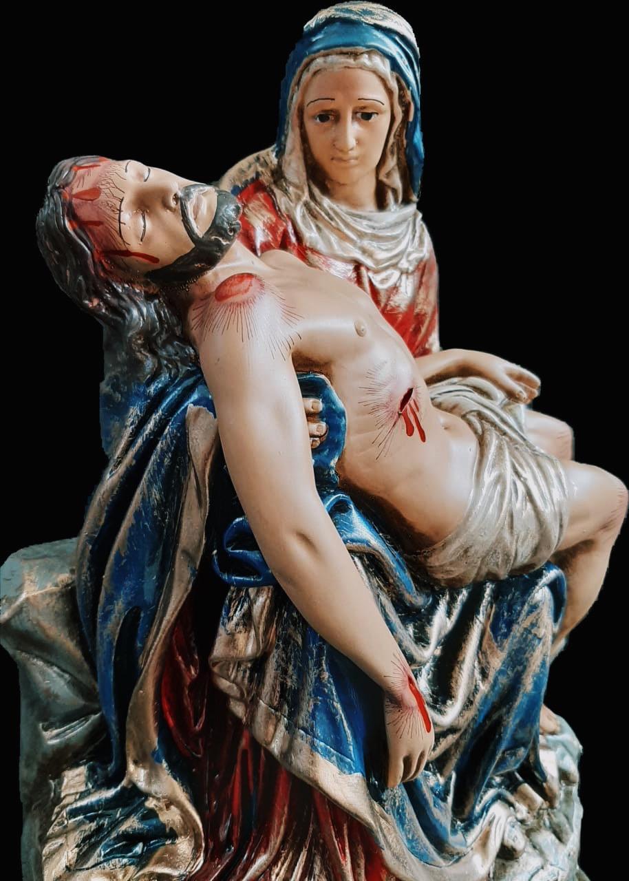 Nossa Senhora da Piedade 035 cm - envelhecida