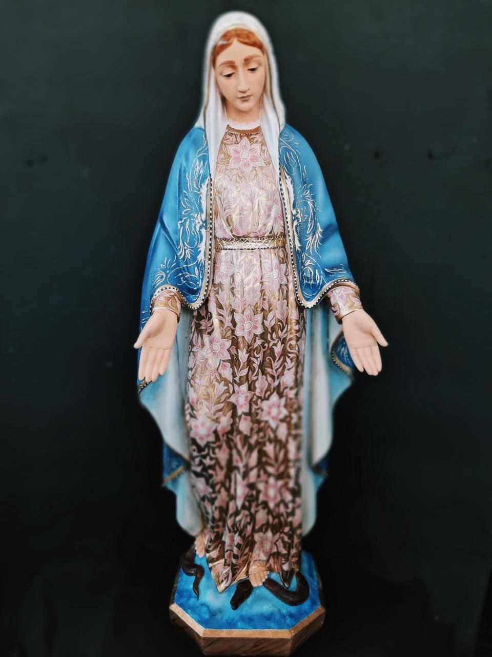 Nossa Senhora das Graças - 120 cm - Bordada - policromia