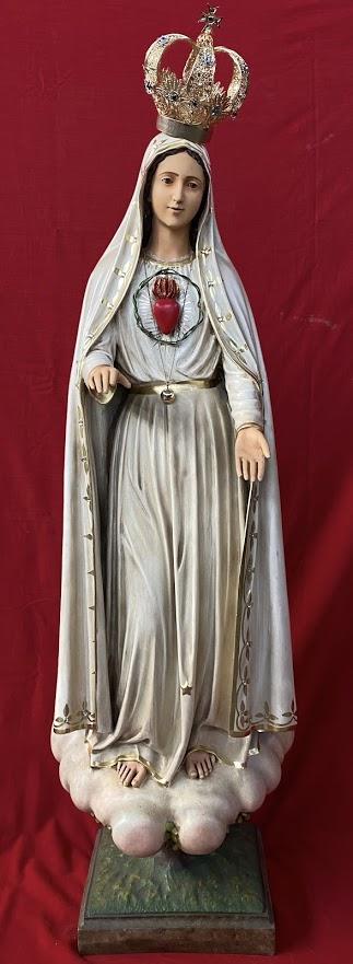 Nossa Senhora de Fátima - 110 cm - Imaculado Coração - Envelhecida