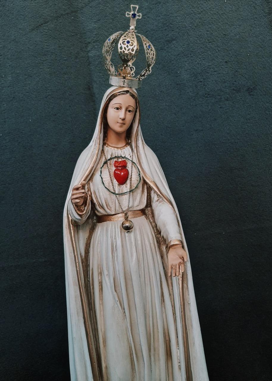 Nossa Senhora de Fátima Envelhecida (Imaculado Coração) - 050 cm