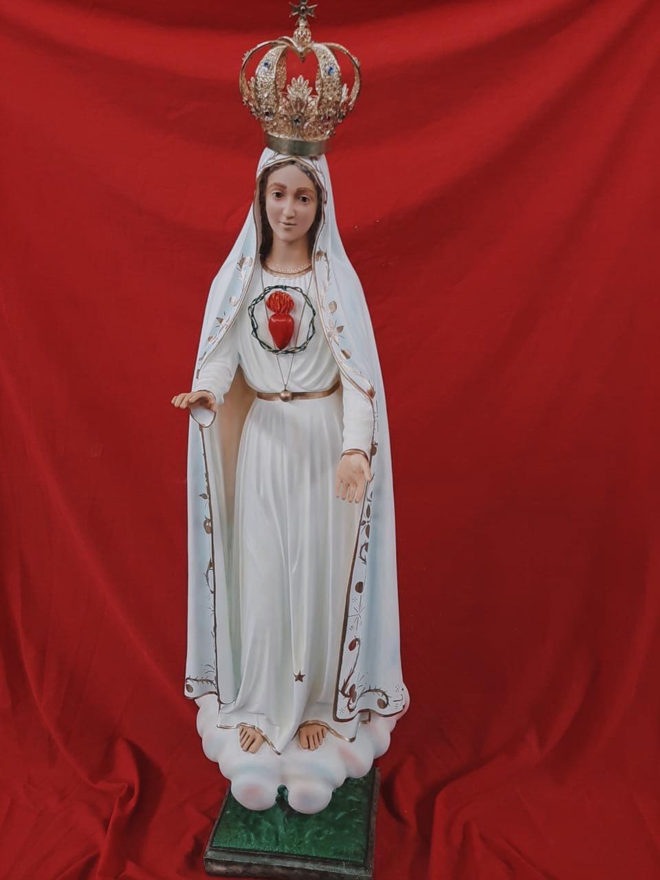 Nossa Senhora de Fátima (Imaculado Coração)  - 110 cm