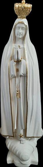 Nossa Senhora de Fátima - Pó de mármore (coroas douradas) 120 cm