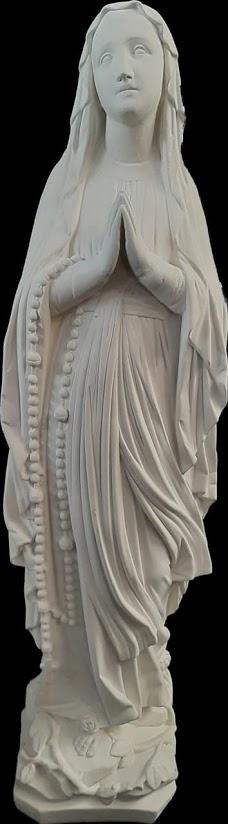 Nossa Senhora de Lourdes - 60 cm - Pó de mármore