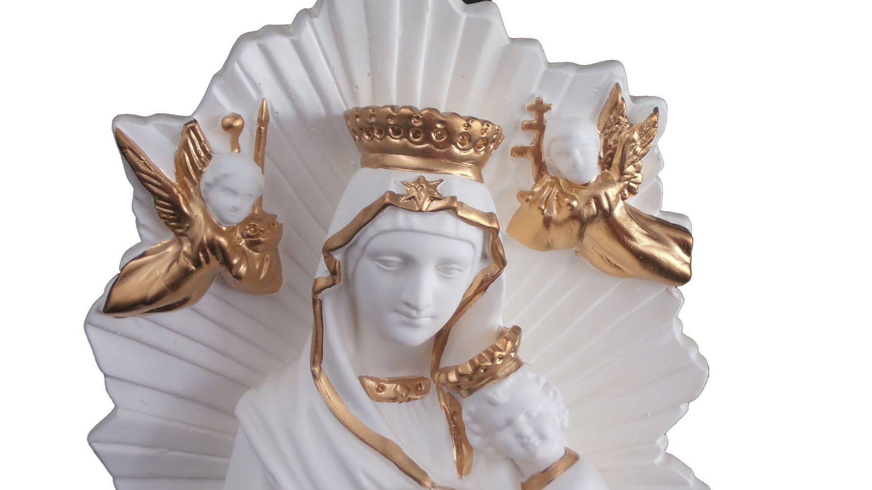 Nossa Senhora do Perpétuo Socorro  (branca e dourada) - 48 cm