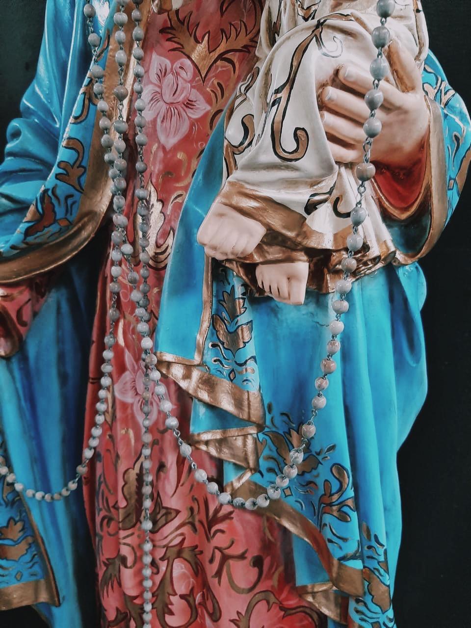 Nossa Senhora do Rosário - 130  (Policromia)