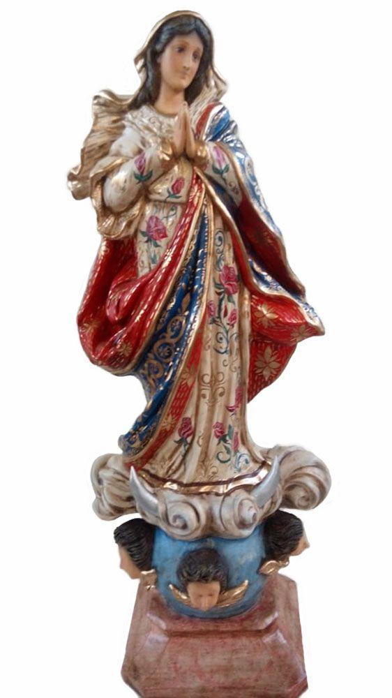 Nossa Senhora ds Conceição (barroca e bordada) - 110 cm