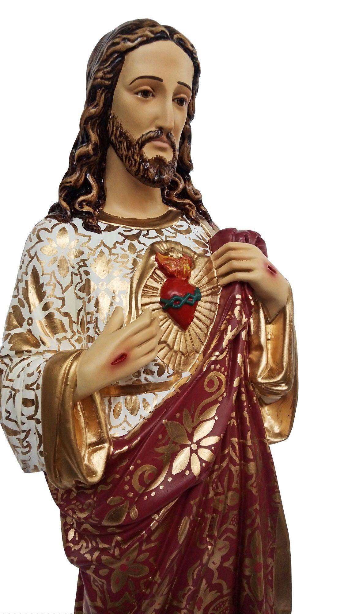 Sagrado Coração de Jesus (bordado) - 060 cm