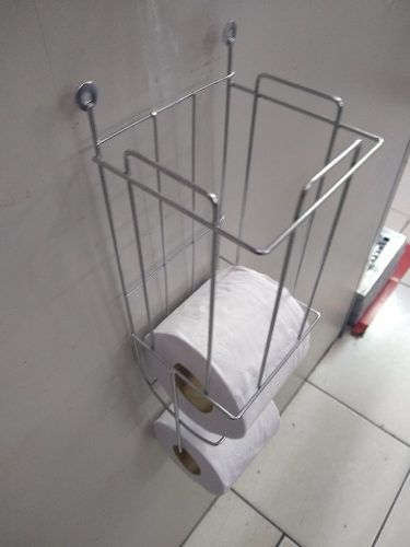 Porta Papel Higiênico Aço Cromado - Líder