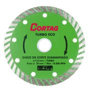 Disco de Corte Diamantado Turbo Eco 110X20MM - Cortag