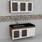 Gabinete Cozinha Veneza Branco 1,15mt - Harpex