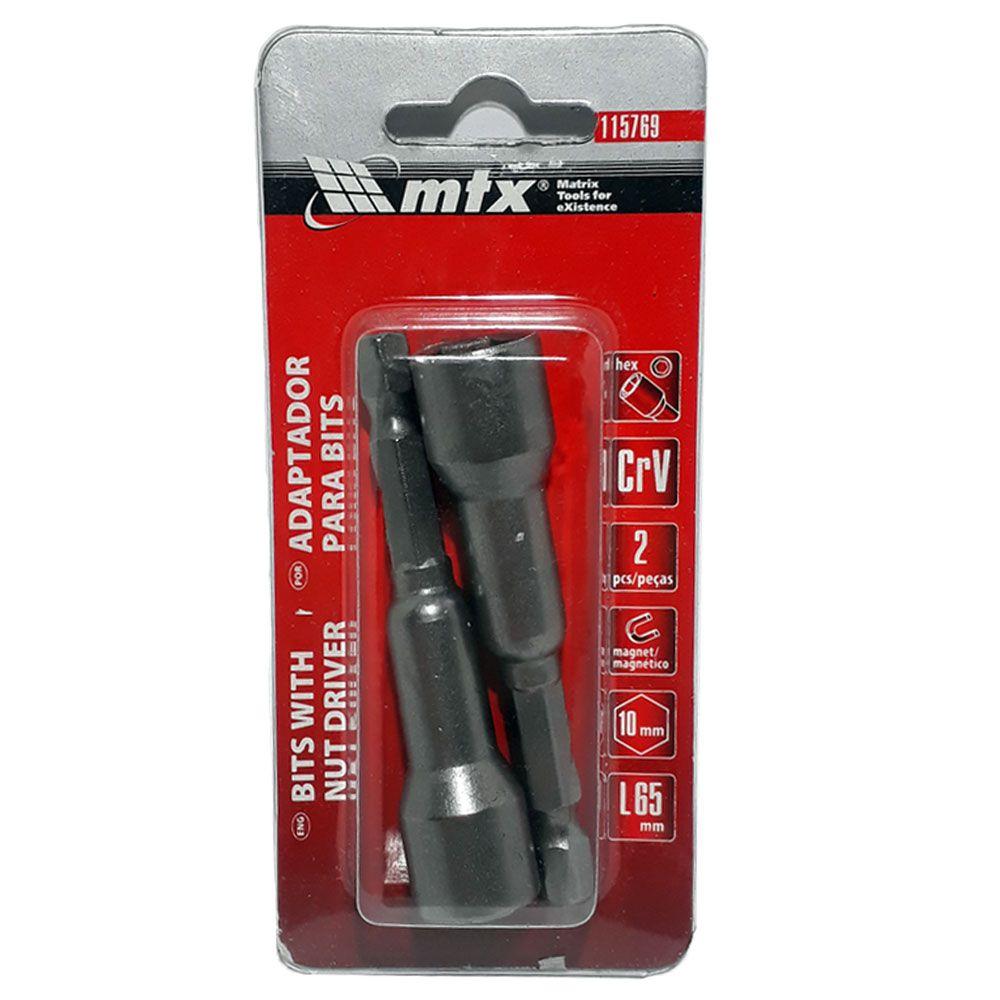 Adaptador para parafusadeira 10mm 2 pç - Mtx