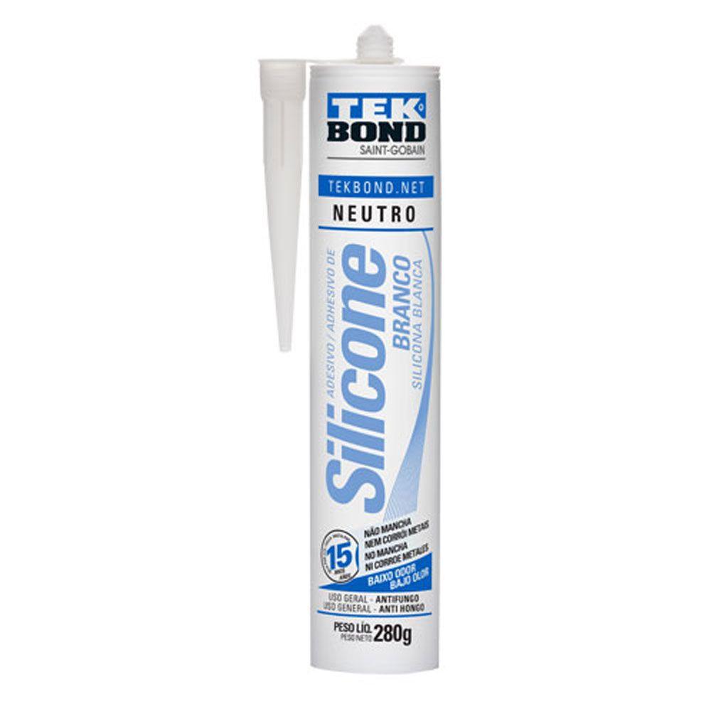 Adesivo de Silicone Branco 280g - Tekbond