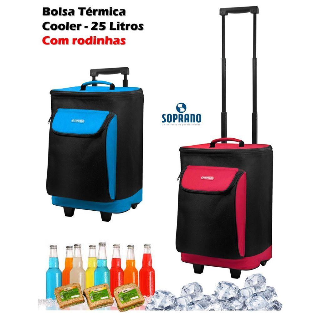 Bolsa Térmica Tropical com Rodinhas 25L - Soprano