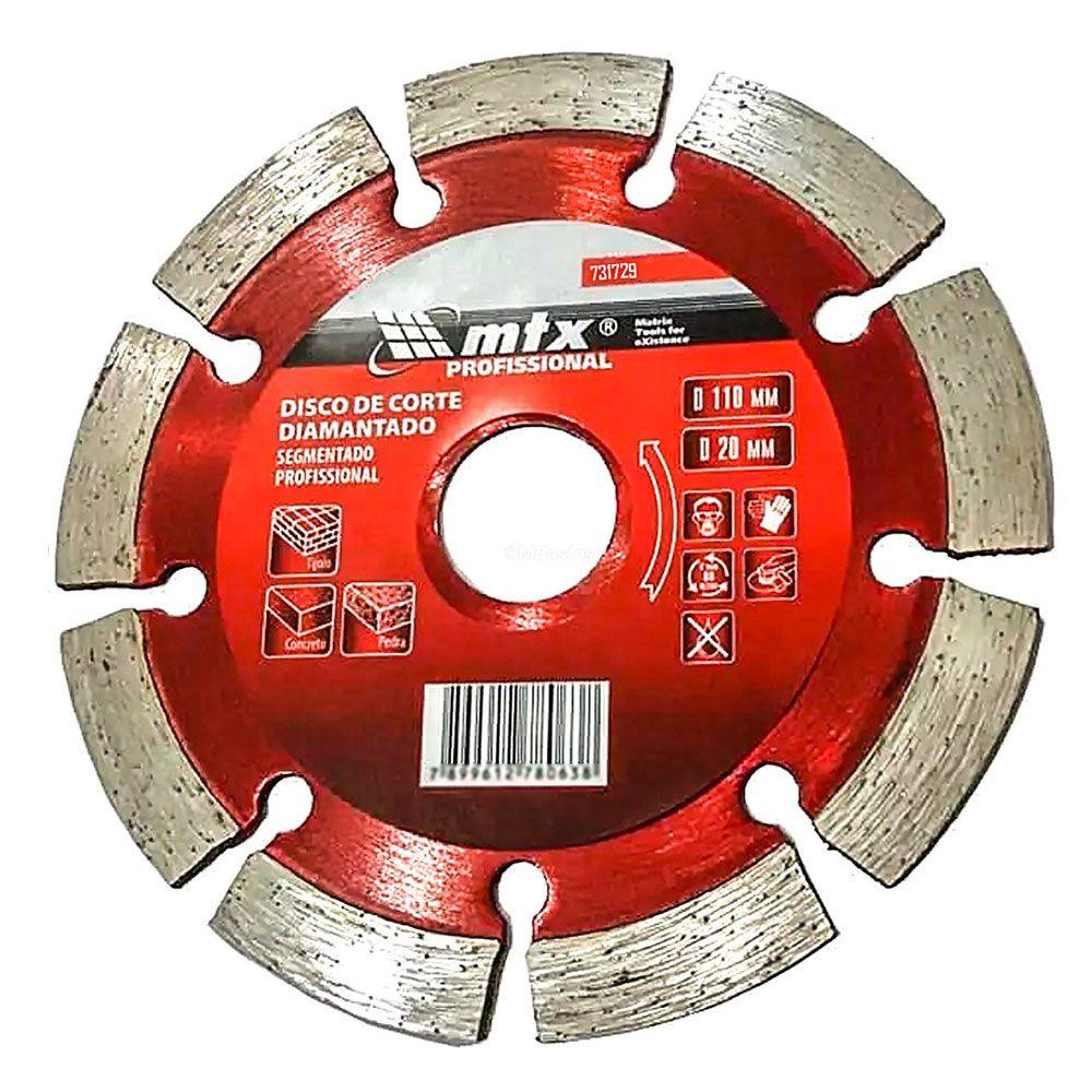 Disco de Corte Diamantado Segmentado 115X22MM 731729 - Mtx