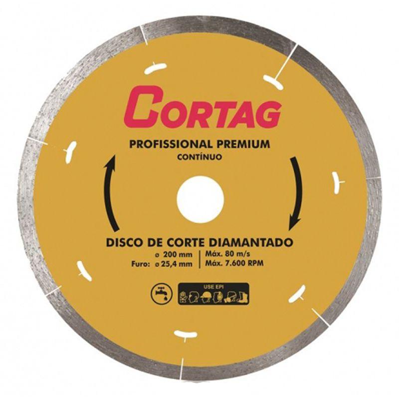 Disco de Corte Diamantado Profissional Premium 200X25,4MM - Cortag