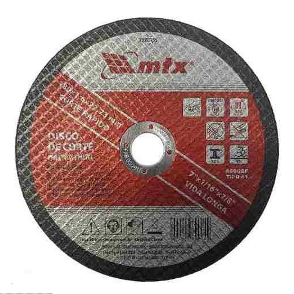 """DISCO DE CORTE PARA AÇO INOX 7"""" 115X22mm - Mtx"""
