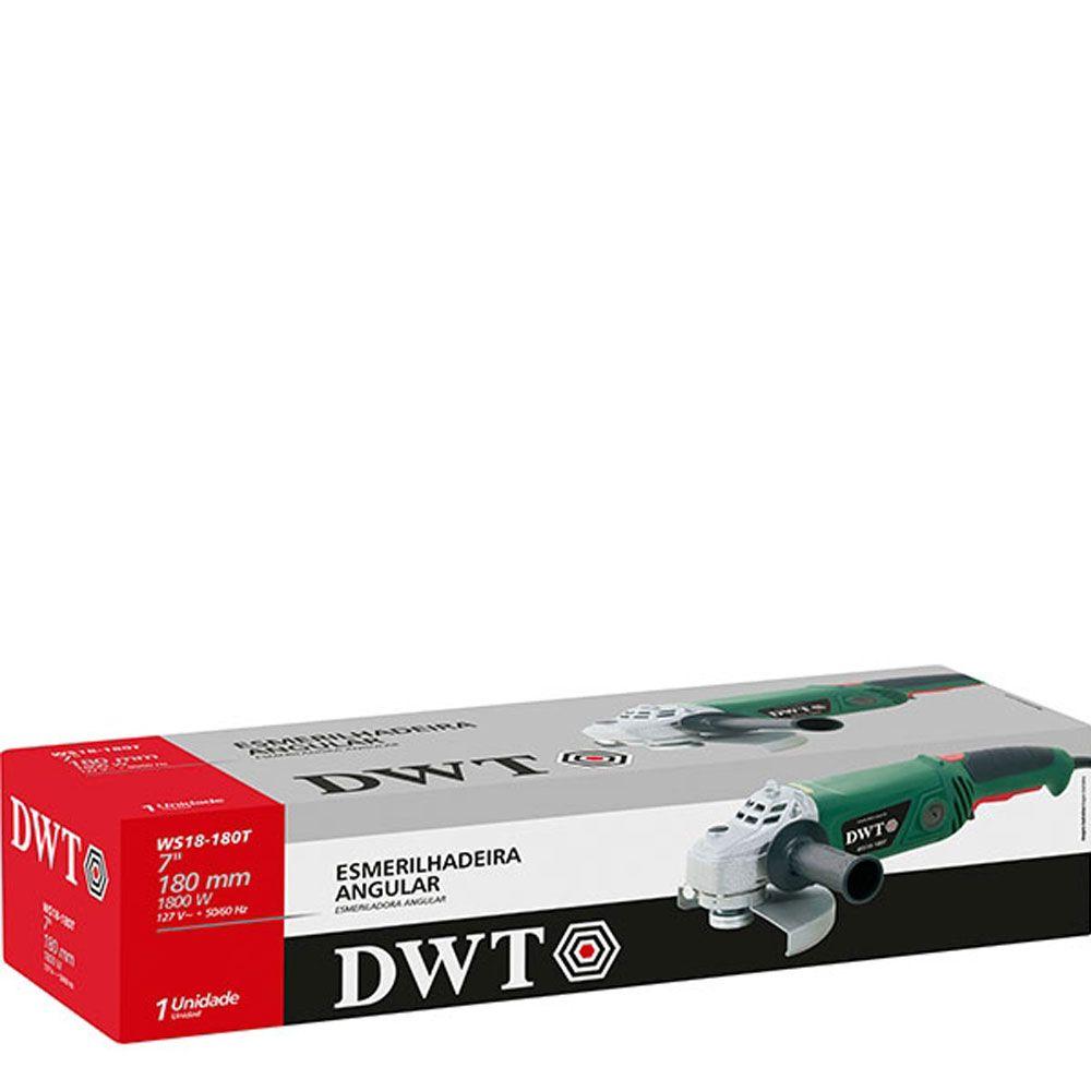 Esmerilhadeira Angular 7'' 180mm WS18-180T 1800W 220V - Dwt