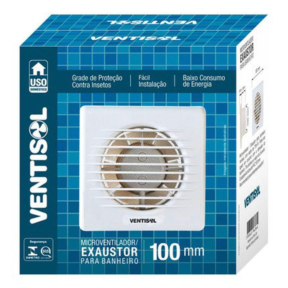 Exaustor Banheiro 100mm 127V - Ventisol