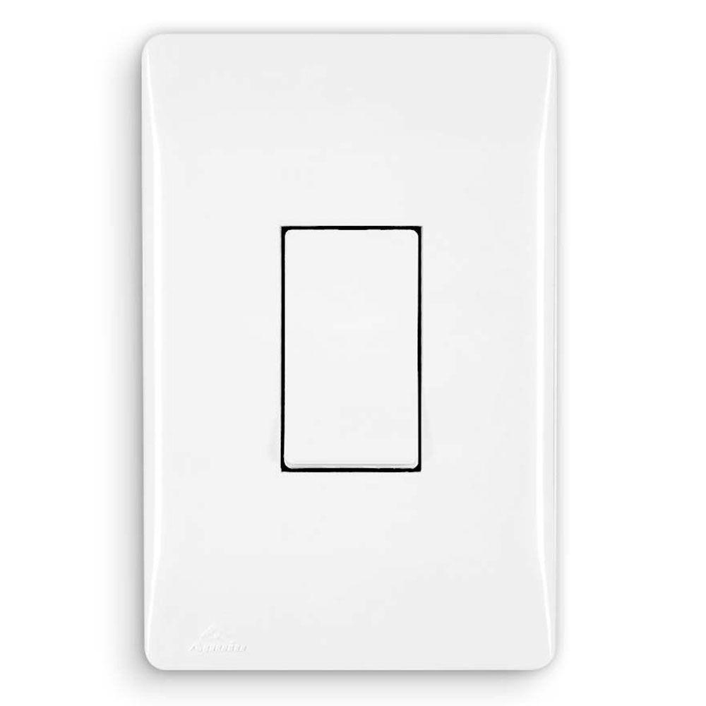 Interruptor Branco Simples Vertical - Apoio Moduluz