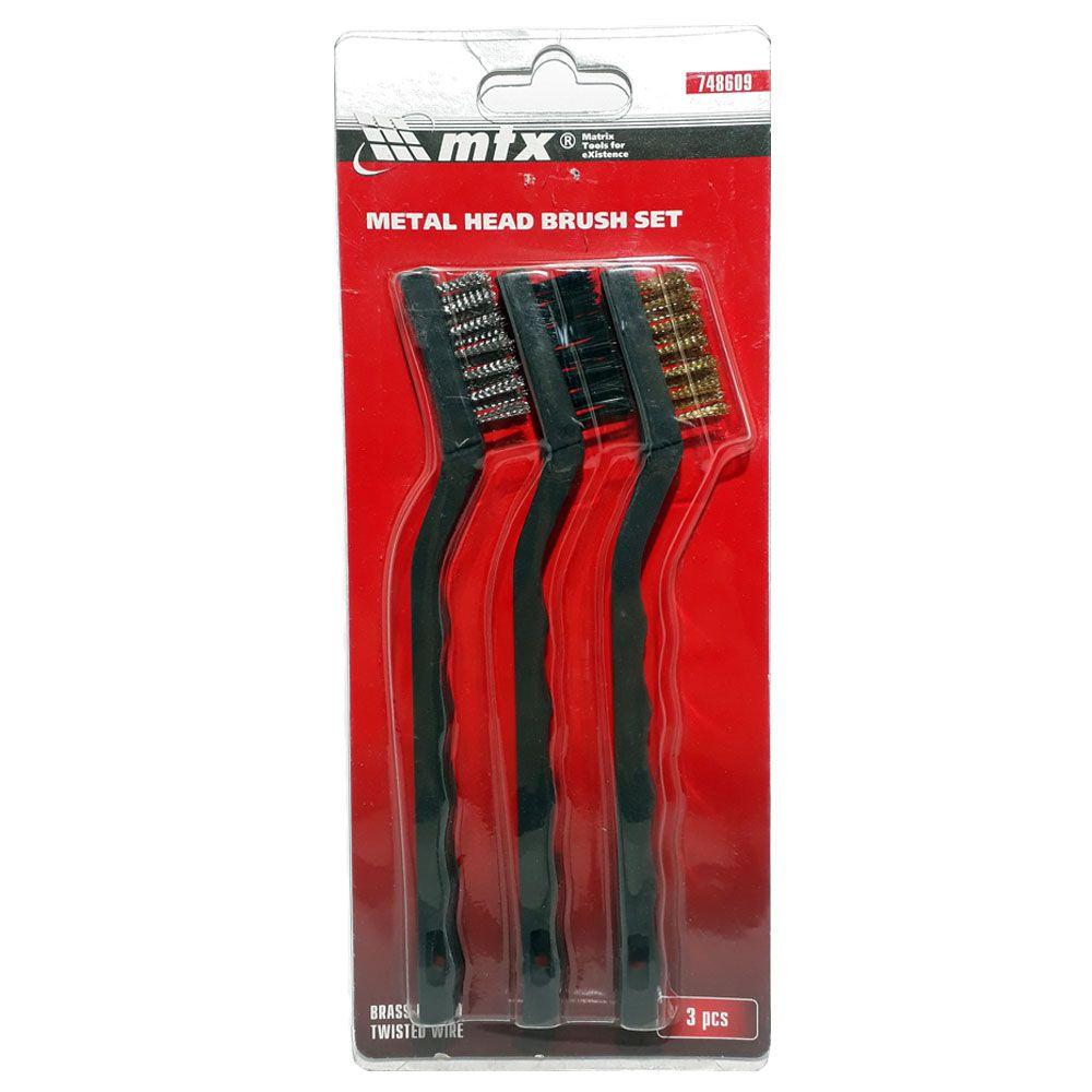 Kit mini escova de aço com cabo - MTX