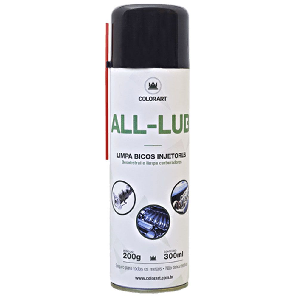 Limpa Bico Injetores Spray All-Lub 300ml - Colorart