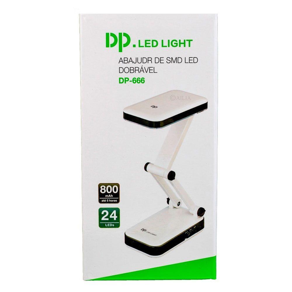 Luminária de mesa 24 2W led dobrável - DP.Led