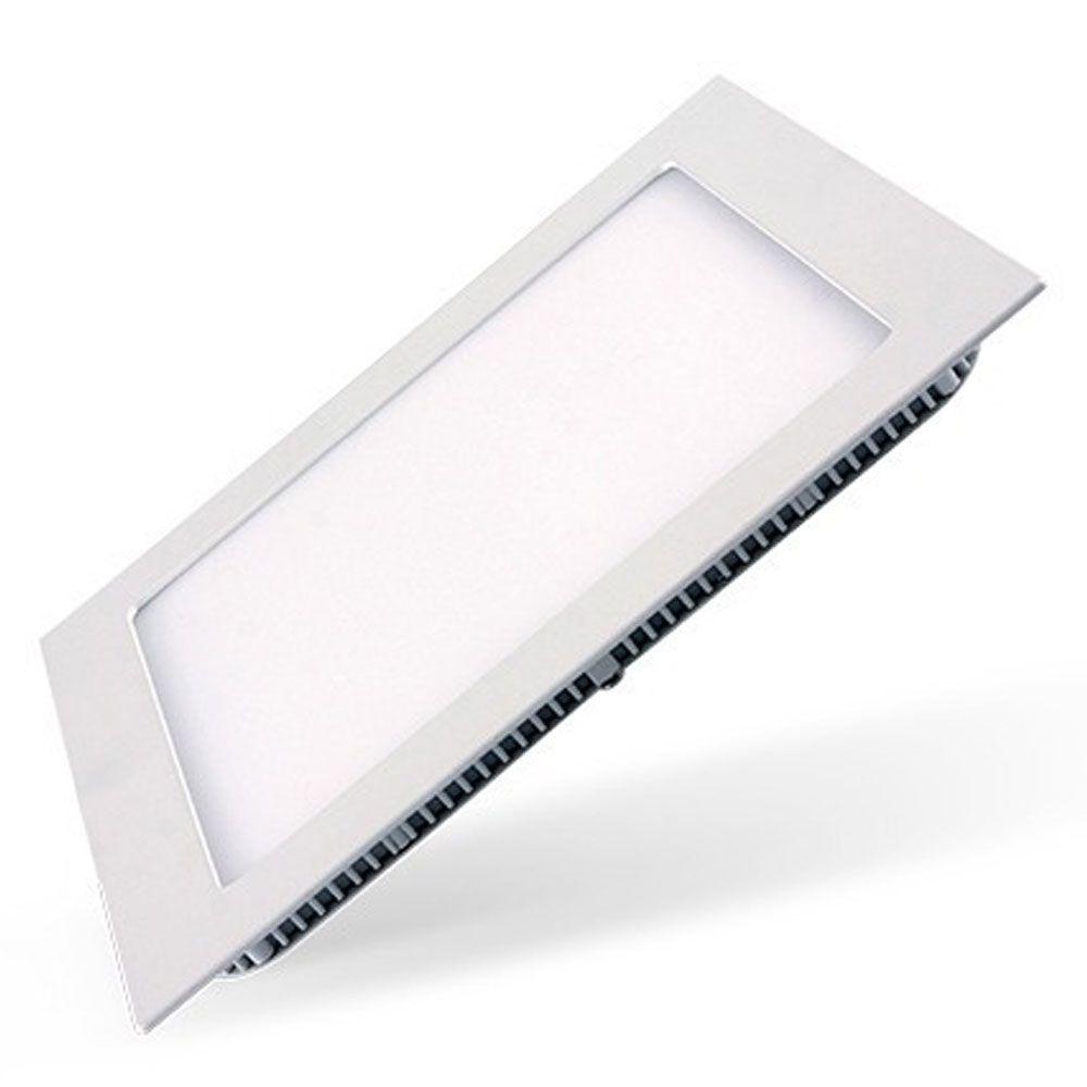 Luminária Slim Led Quadrada Embutir 18w Bivolt - Losch