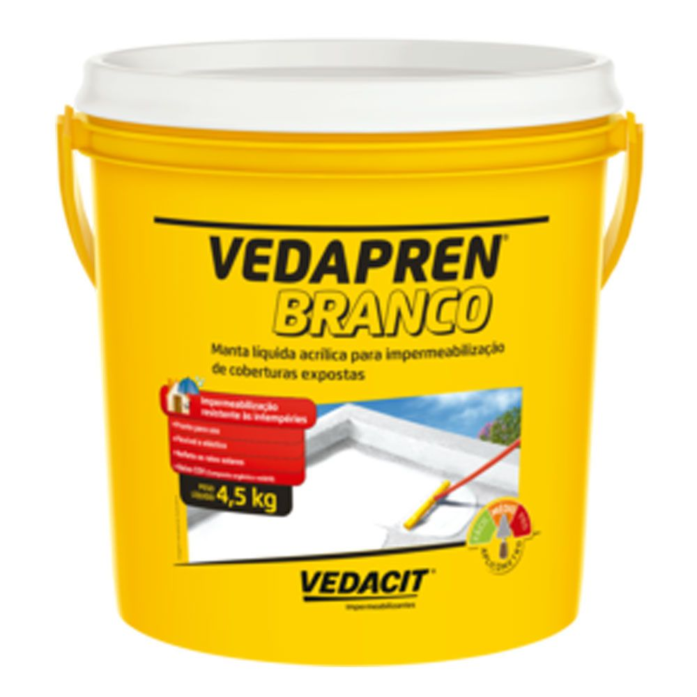 Manta Líquida Vedapren Branco 4,5kg - Vedacit
