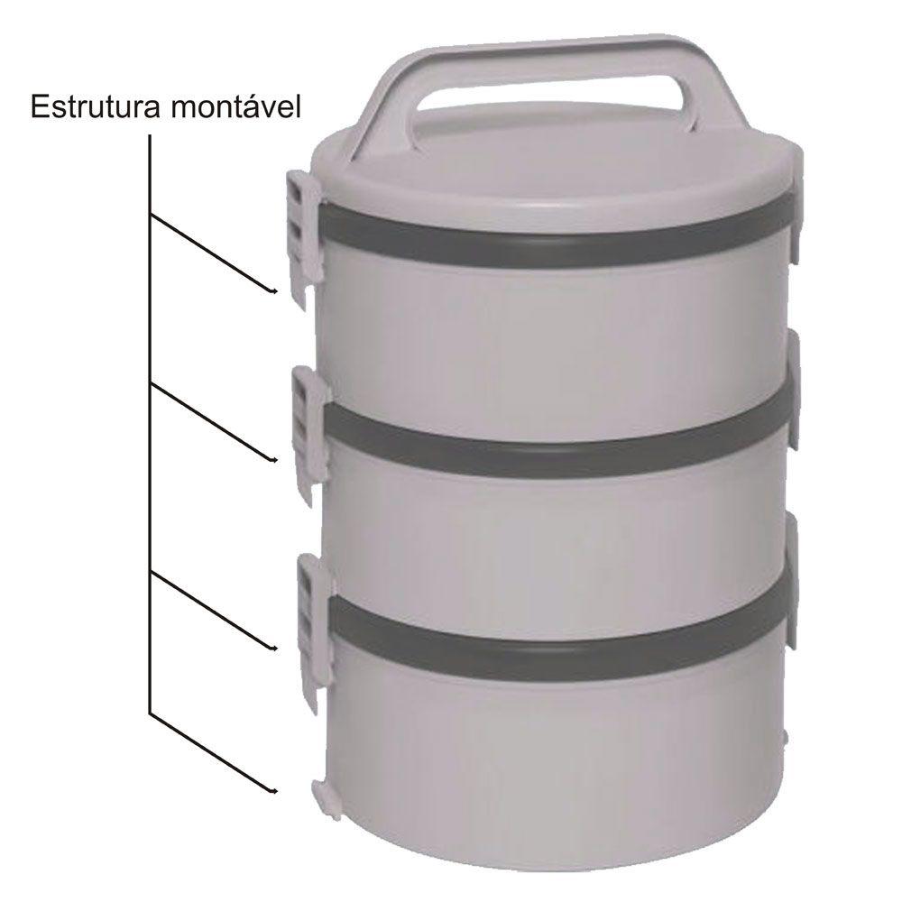 Marmita térmica Tekcor 1,5L Dupla Bege - Soprano