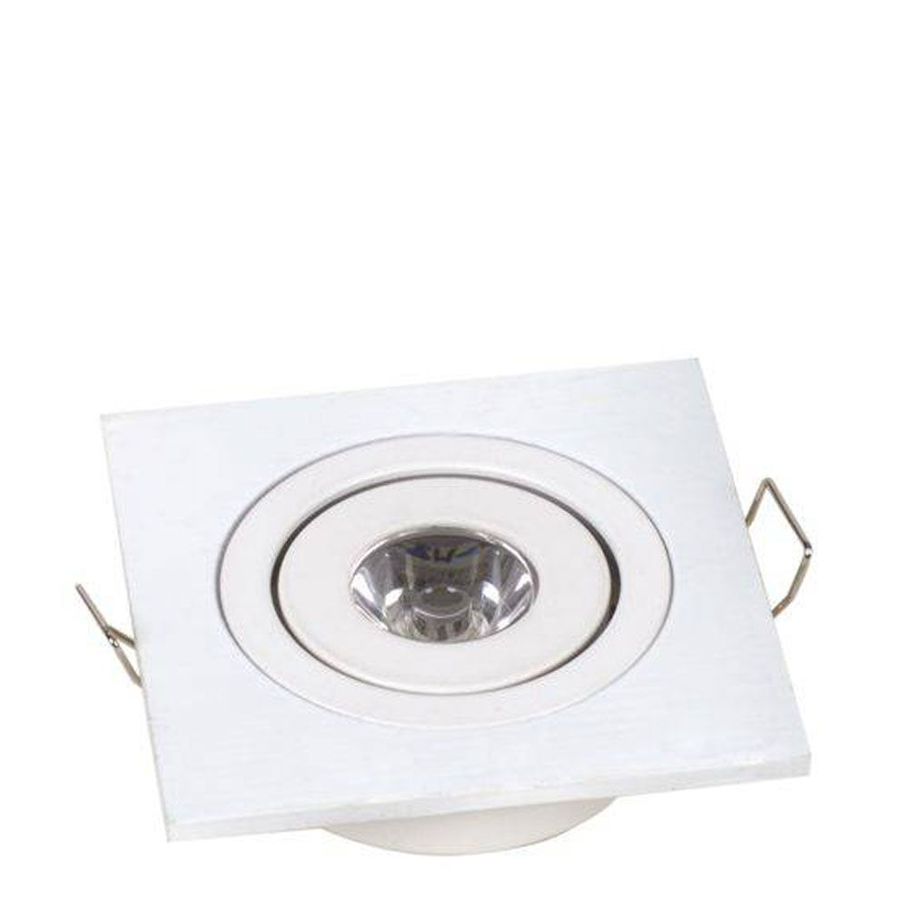 Mini Spot Led 1W Quadrado Branco - Rohs