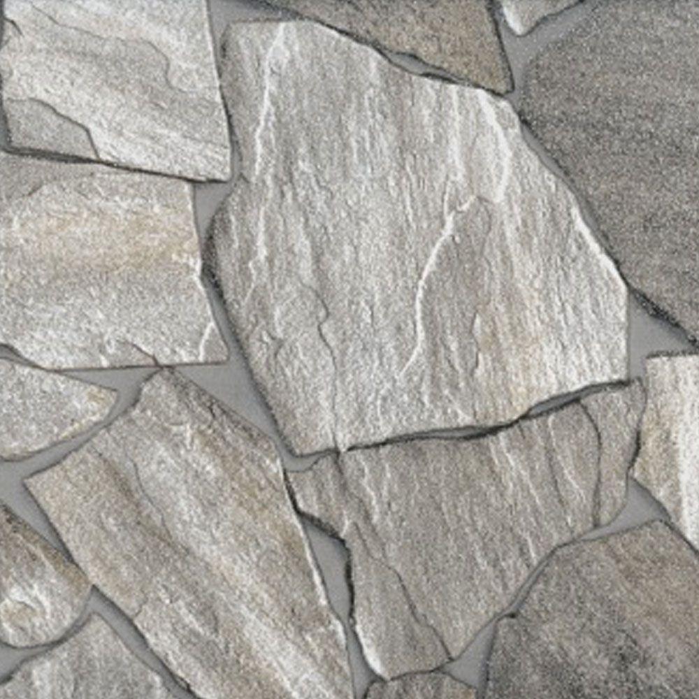 Piso Brilhante Decorado Pedra 43x43cm m² - Ceral