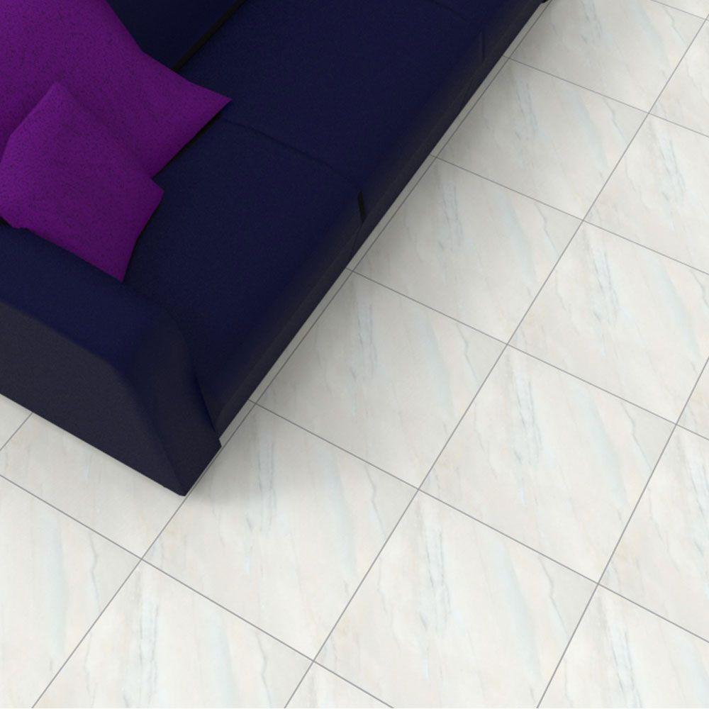 Piso Brilhante Marmo 43x43cm m² - Rosagrês