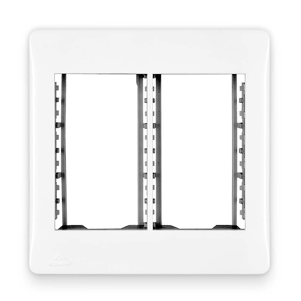 Placa Espelho Branca P/ 6 Módulos 4x4 - Apoio Moduluz