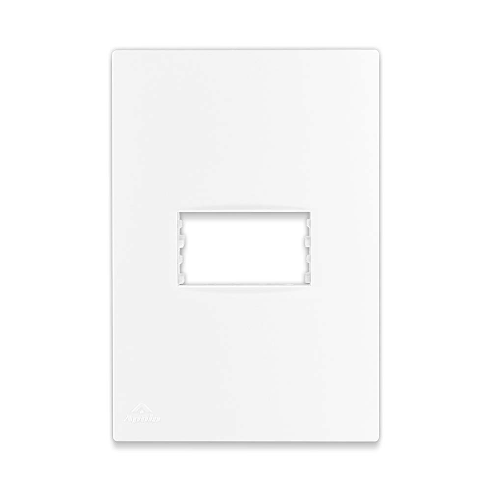 Placa Espelho Branca P/ 1 Módulo 4X2 - Apoio Lissê