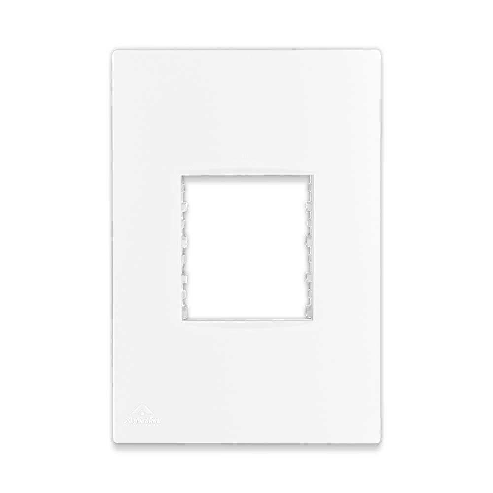 Placa Espelho Branca P/ 2 Módulos 4X2 - Apoio Lissê