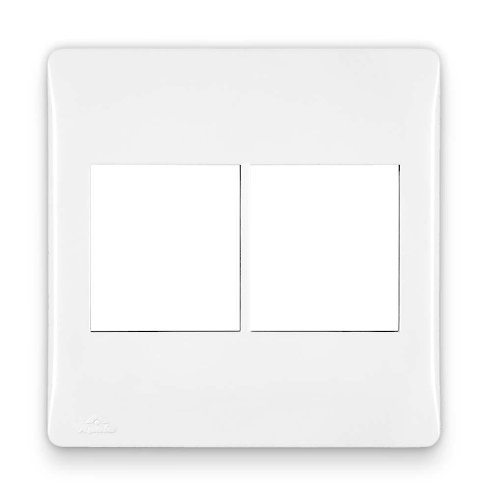 Placa Espelho Branca P/ 4 Módulos 4X4 - Apoio Moduluz