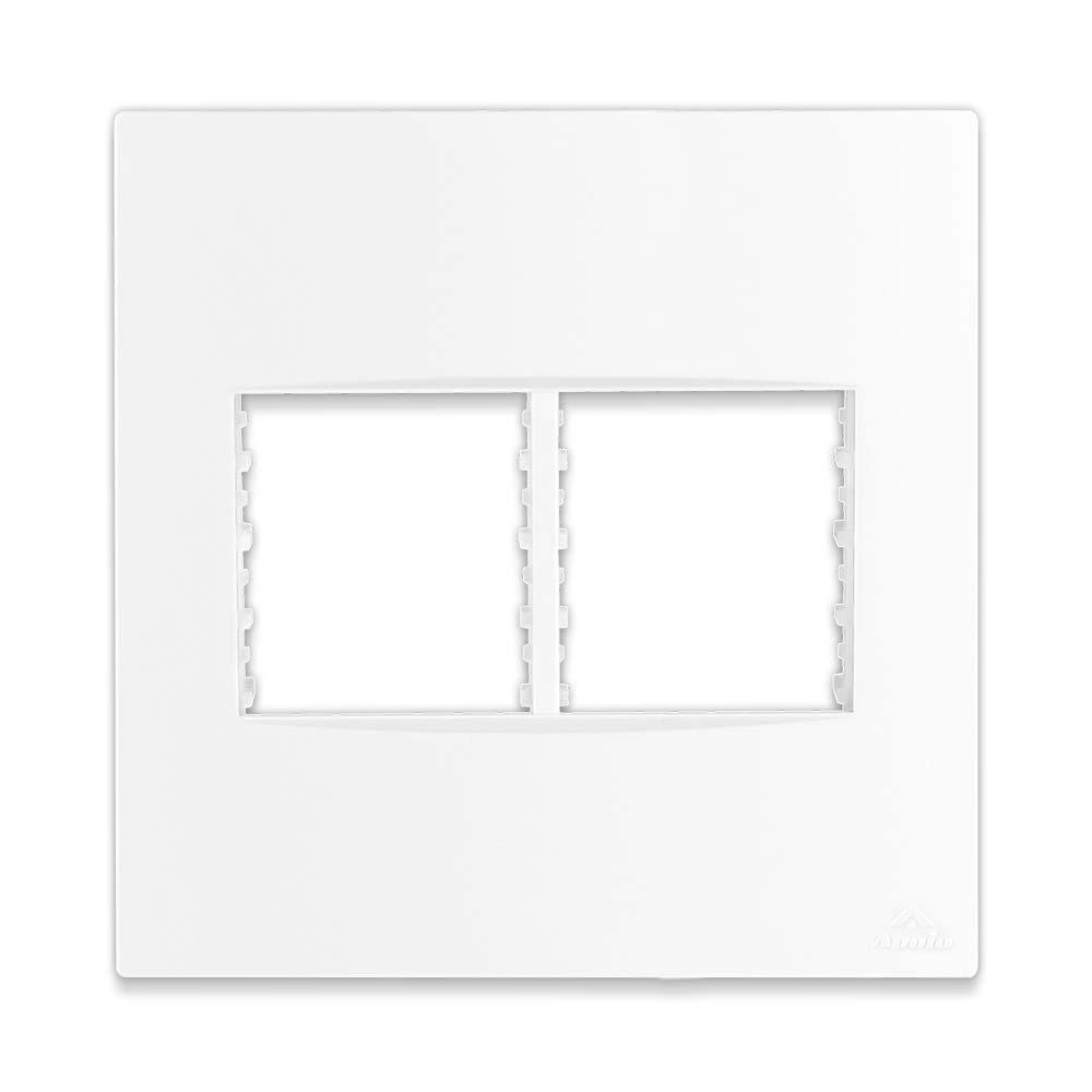 Placa Espelho Branca P/ 4 Módulos 4X4 - Apoio Lissê
