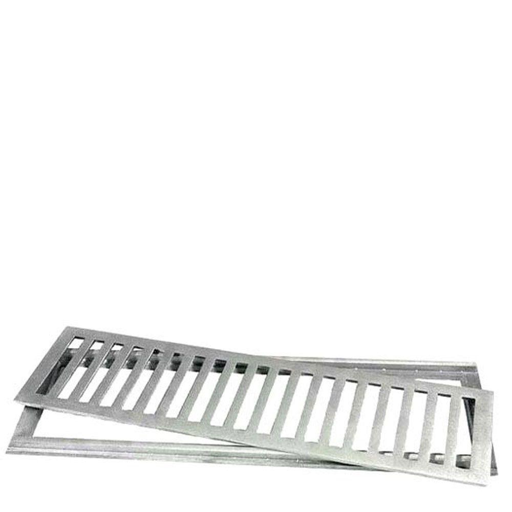 Ralo com Grelha Alumínio Escovado 10x50cm - Lgmais