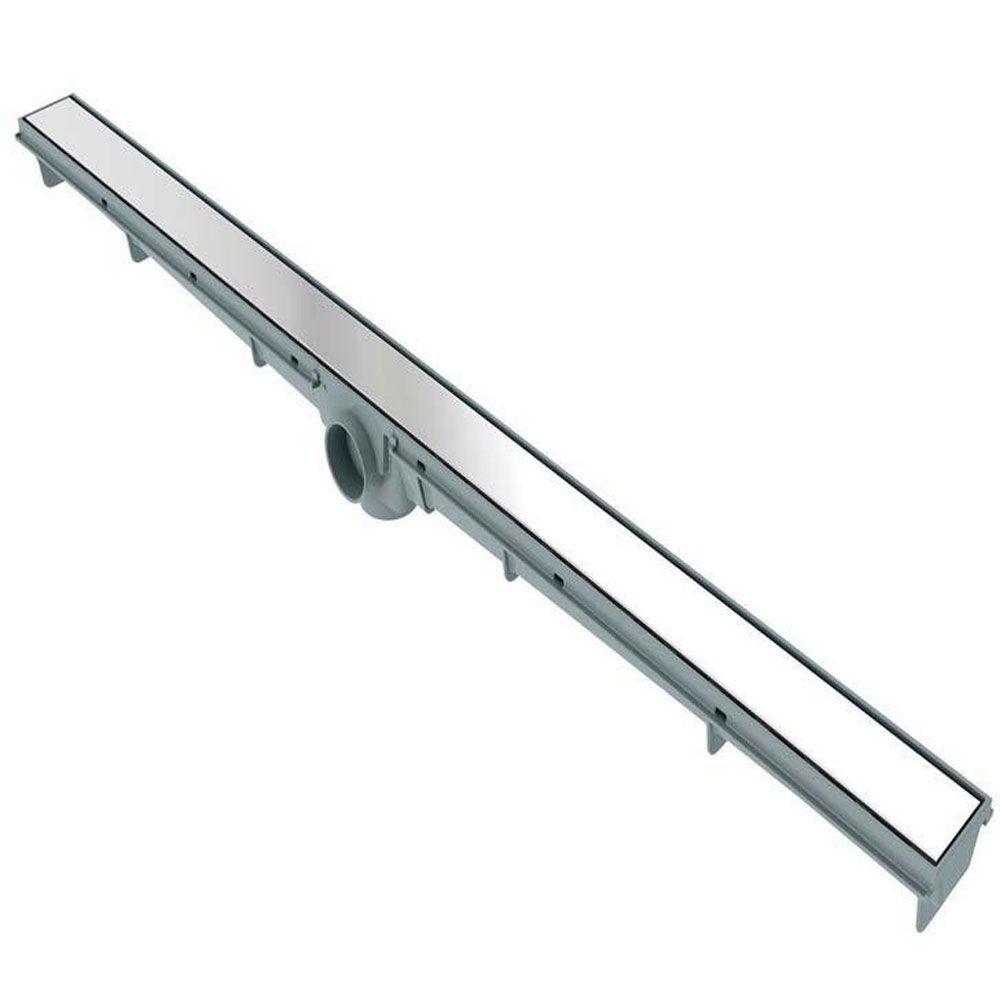 Ralo Linear Inox Flat Lisa 5x100cm - Lgmais
